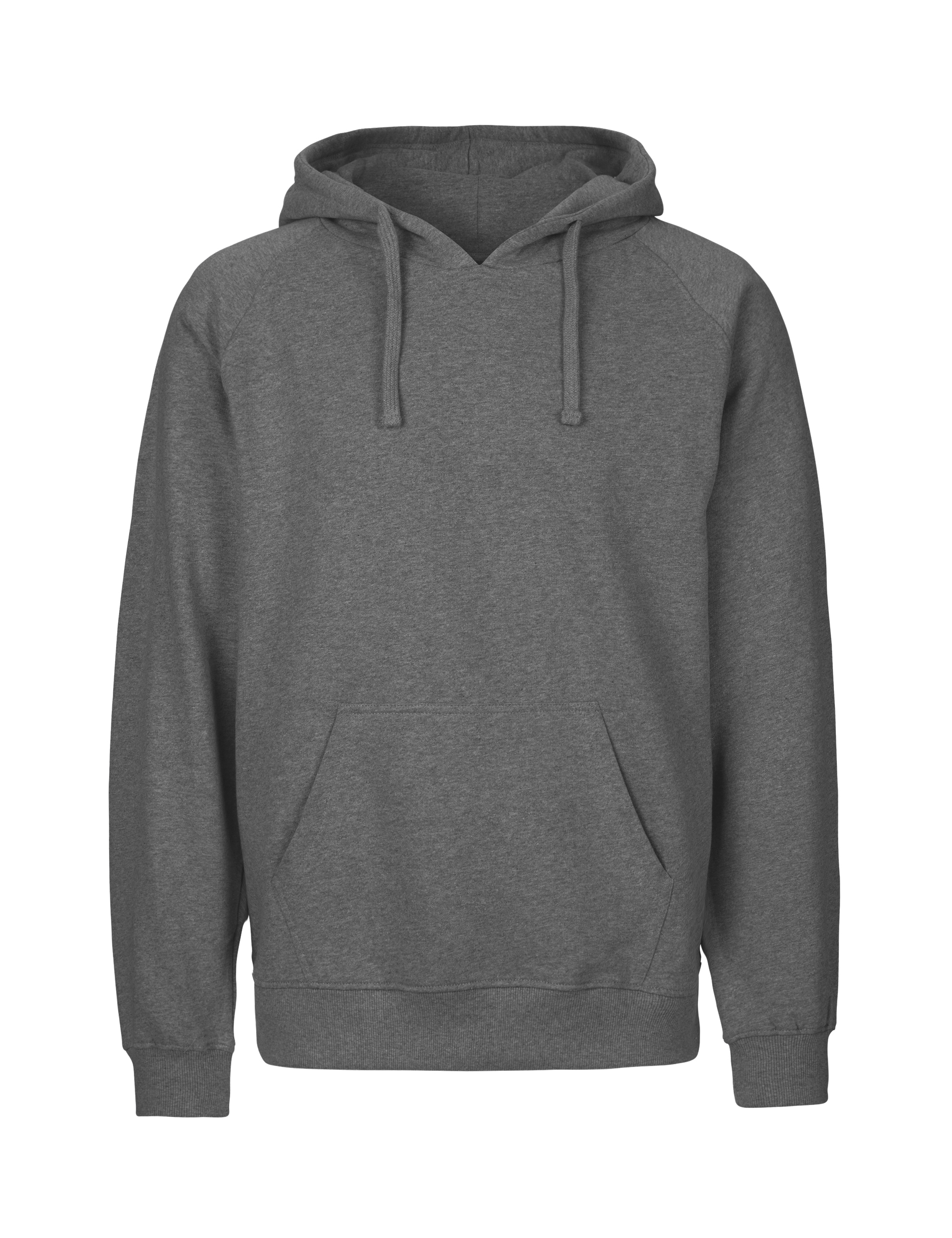 O63101 Mens Hoodie i Dark Heather