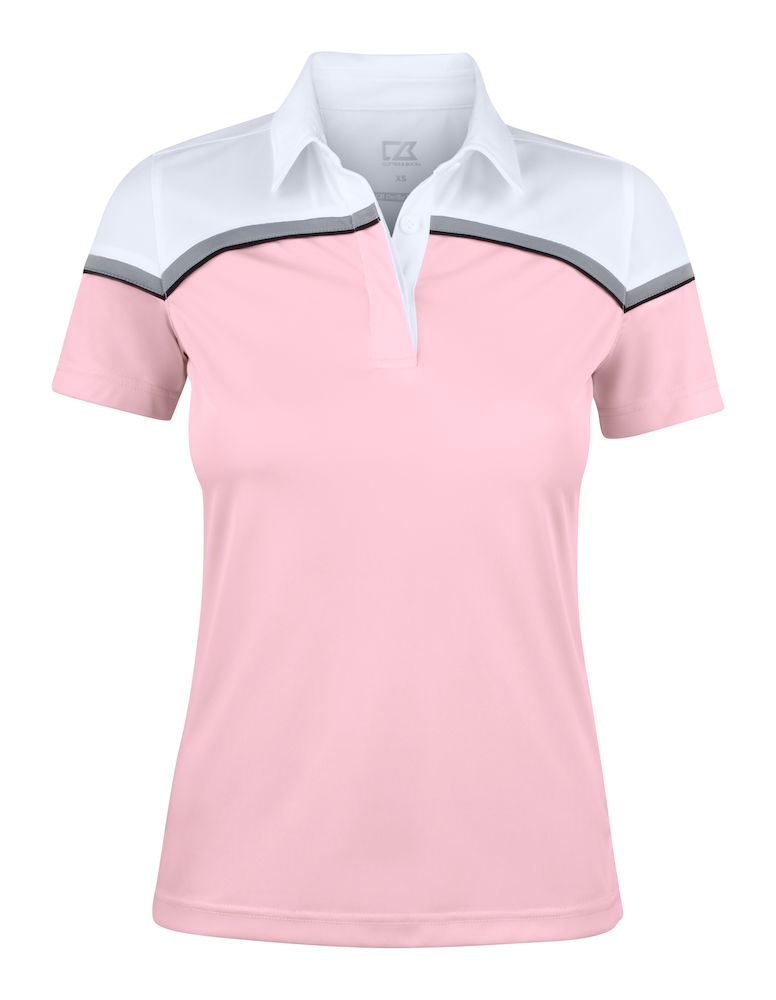 354429 Seabeck Polo Ladies i 21000-Pink/White