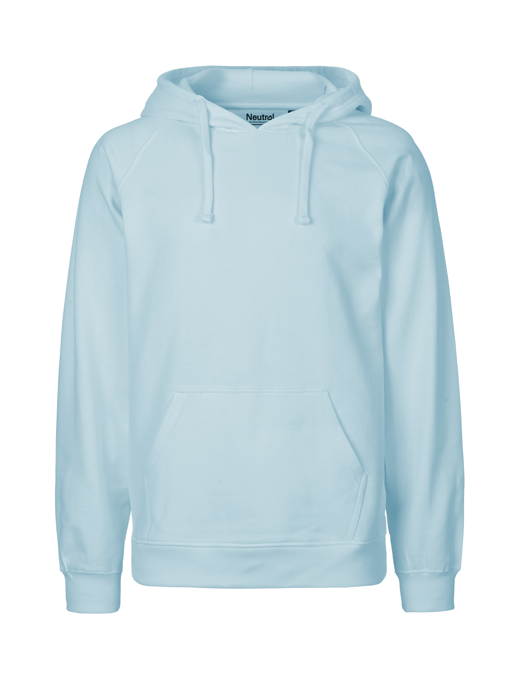 O63101 Mens Hoodie i Light Blue