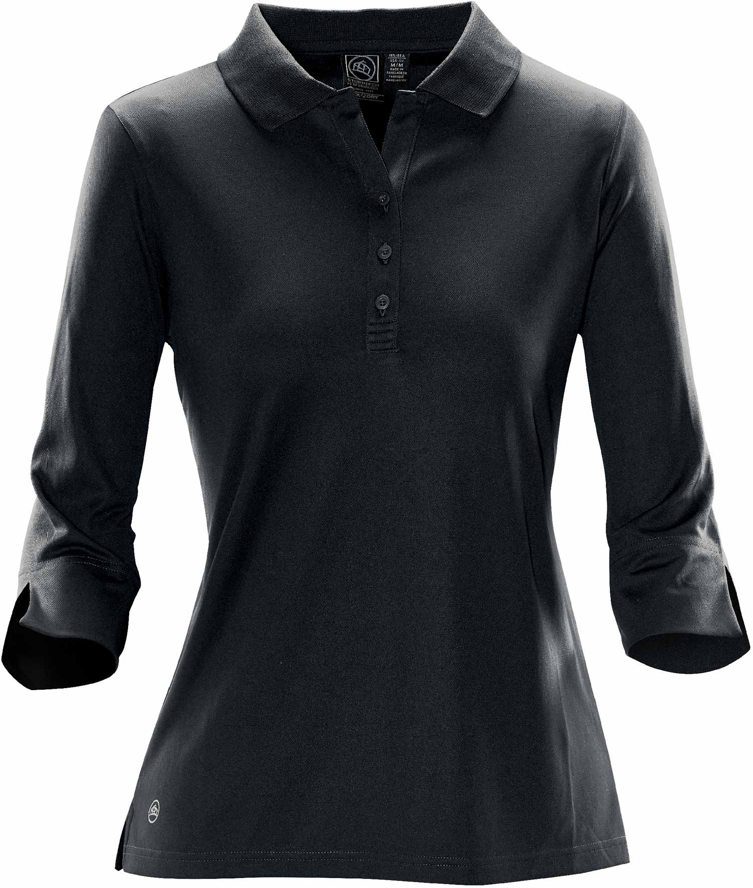 SP12  Eclipse L/S Polo (D) i Sort