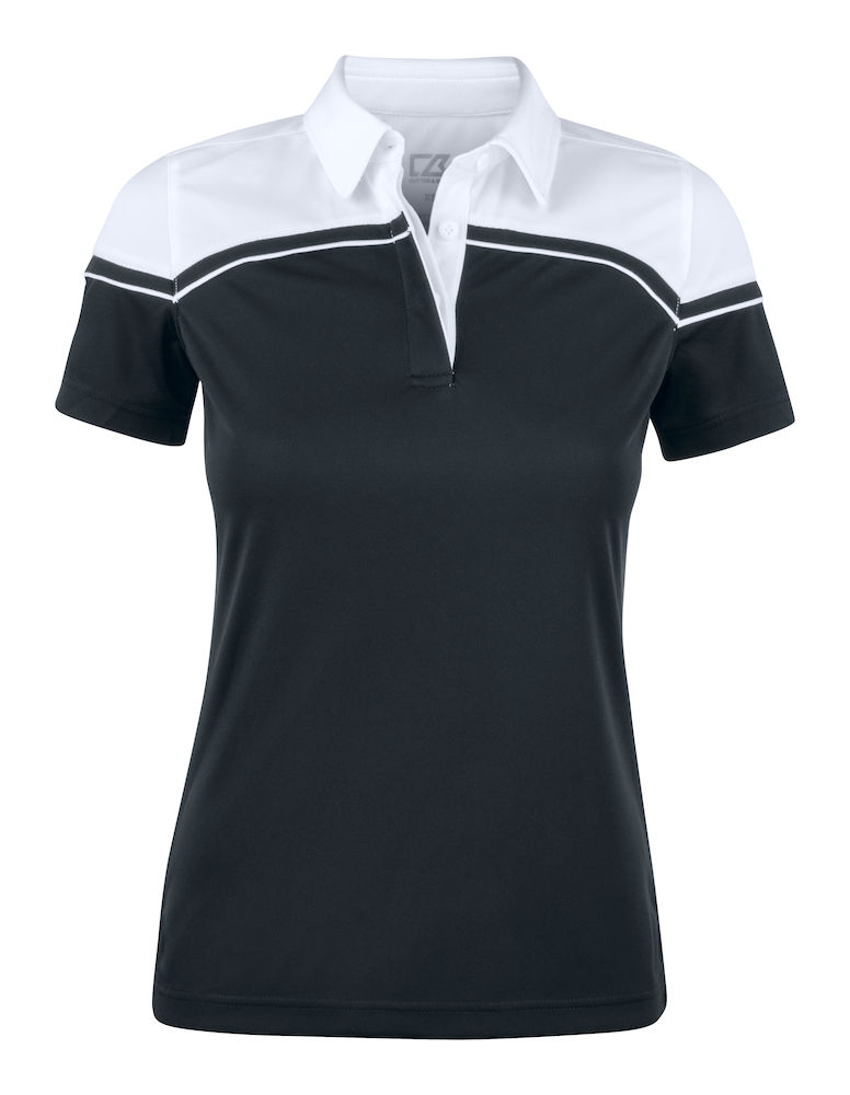 354429 Seabeck Polo Ladies i 9900-Black/White
