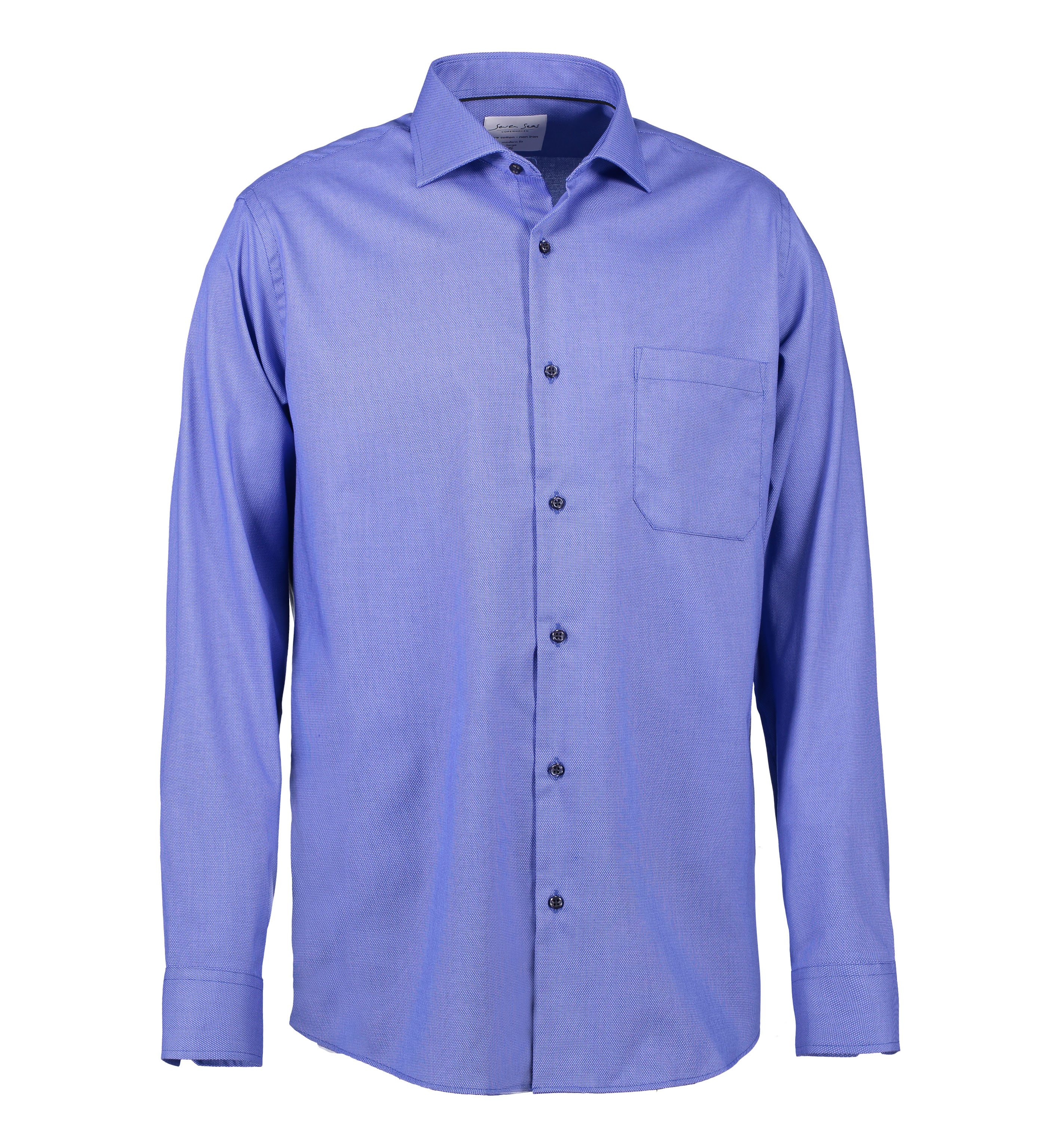 SS310 Dobby | Royal Oxford | L/S Mod fit i French Blue