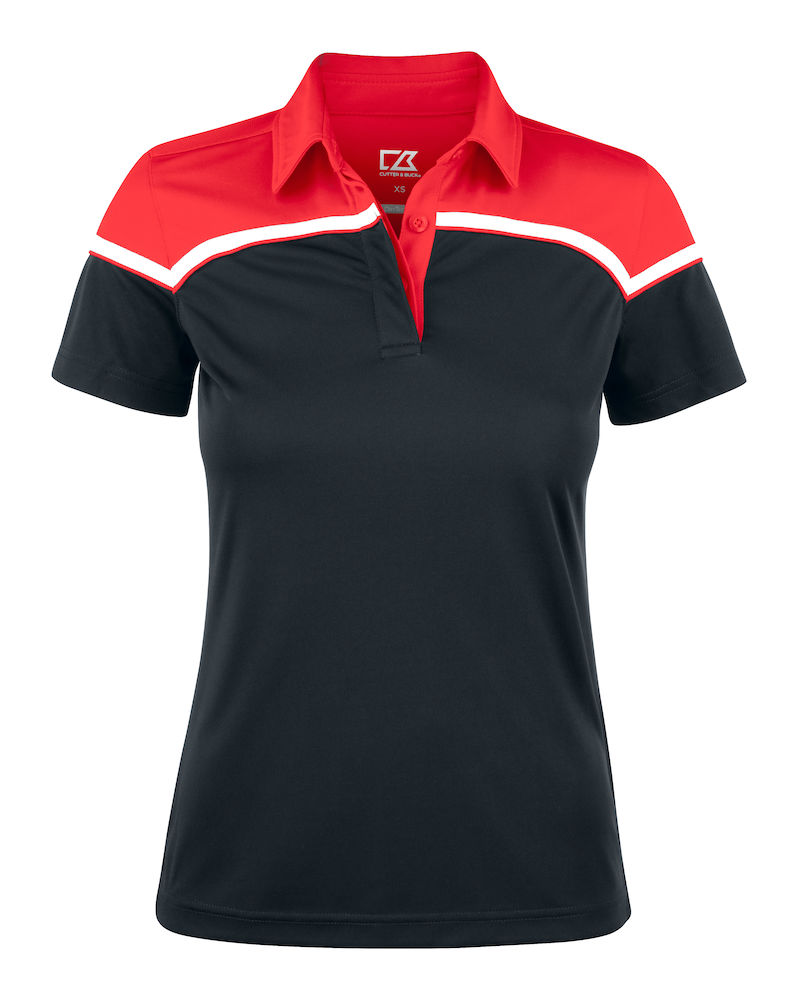 354429 Seabeck Polo Ladies i 9935-Black/Red