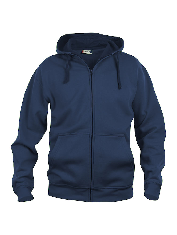 021034 Basic Hoody Full zip i 580-Dark Navy