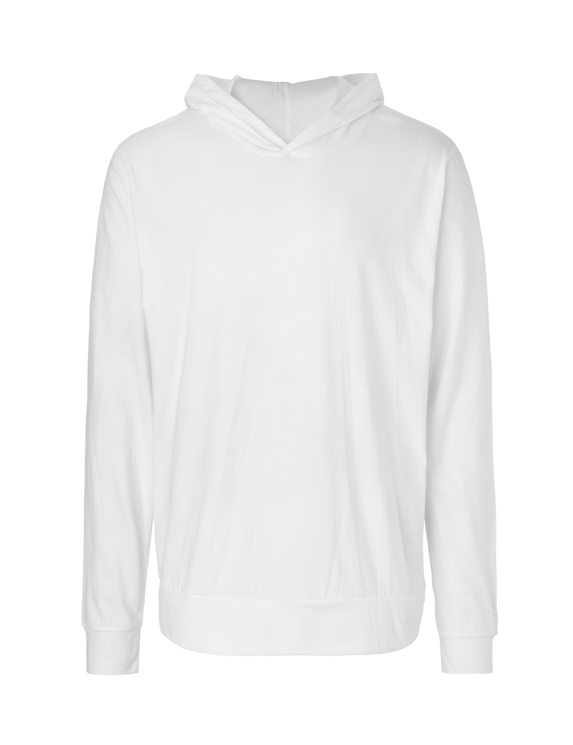 O62101 Unisex Jersey Hoodie i White