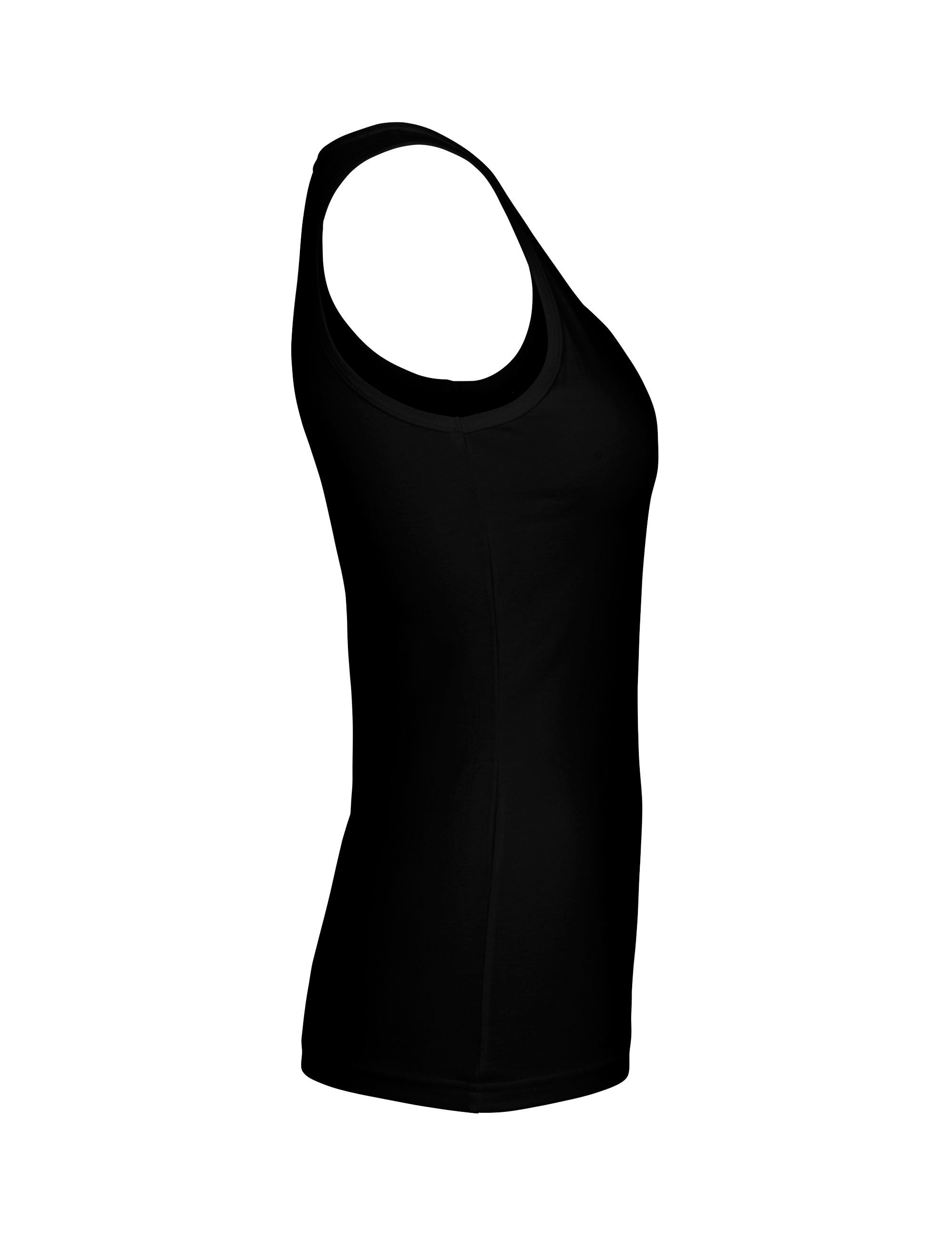 O81300 Ladies Tank Top i Black