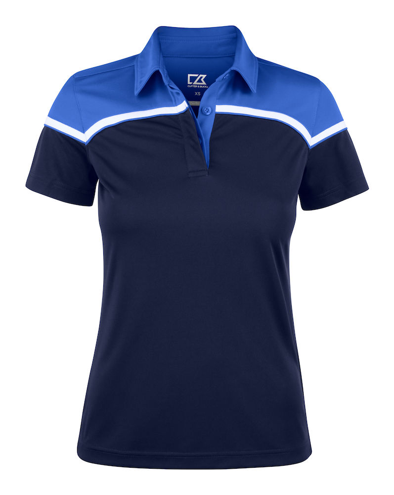 354429 Seabeck Polo Ladies i 58055-Dark Navy/Royal