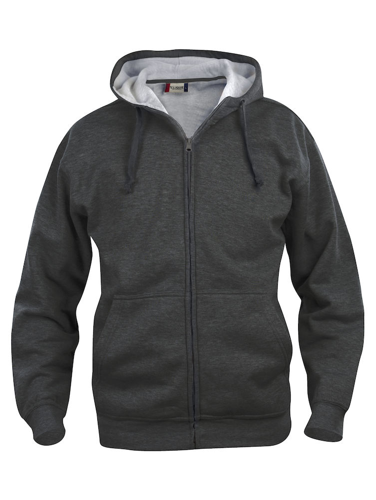 021034 Basic Hoody Full zip i 955-Anthracite Melange