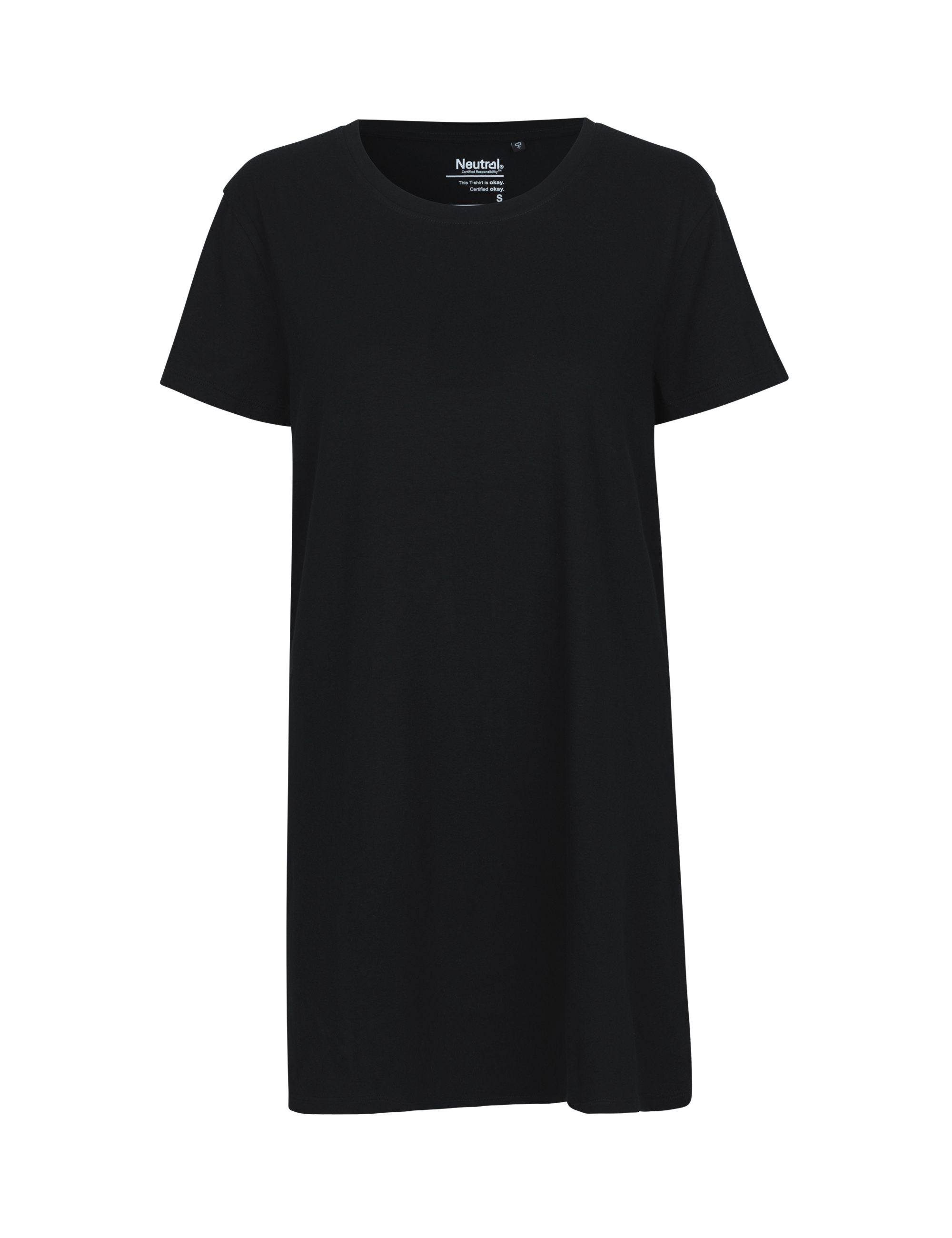 O81020 Ladies Long Length T-shirt i Black
