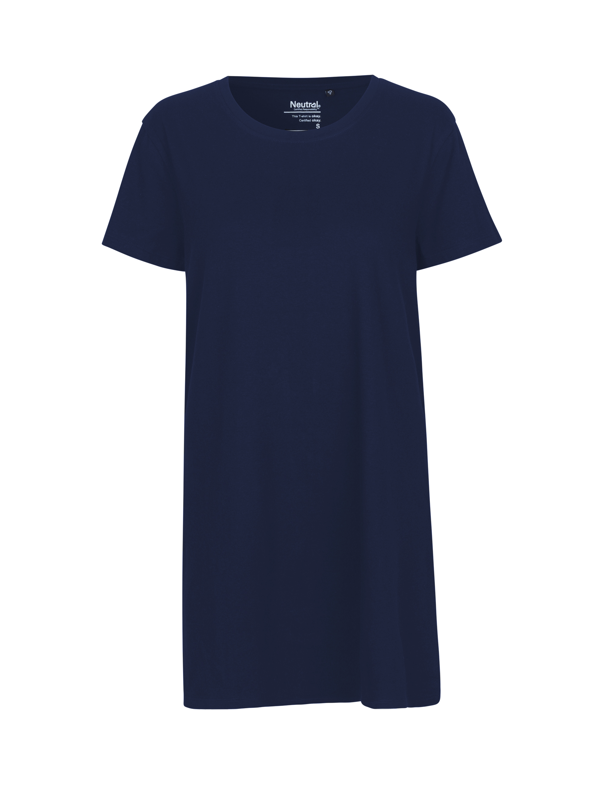 O81020 Ladies Long Length T-shirt i Navy