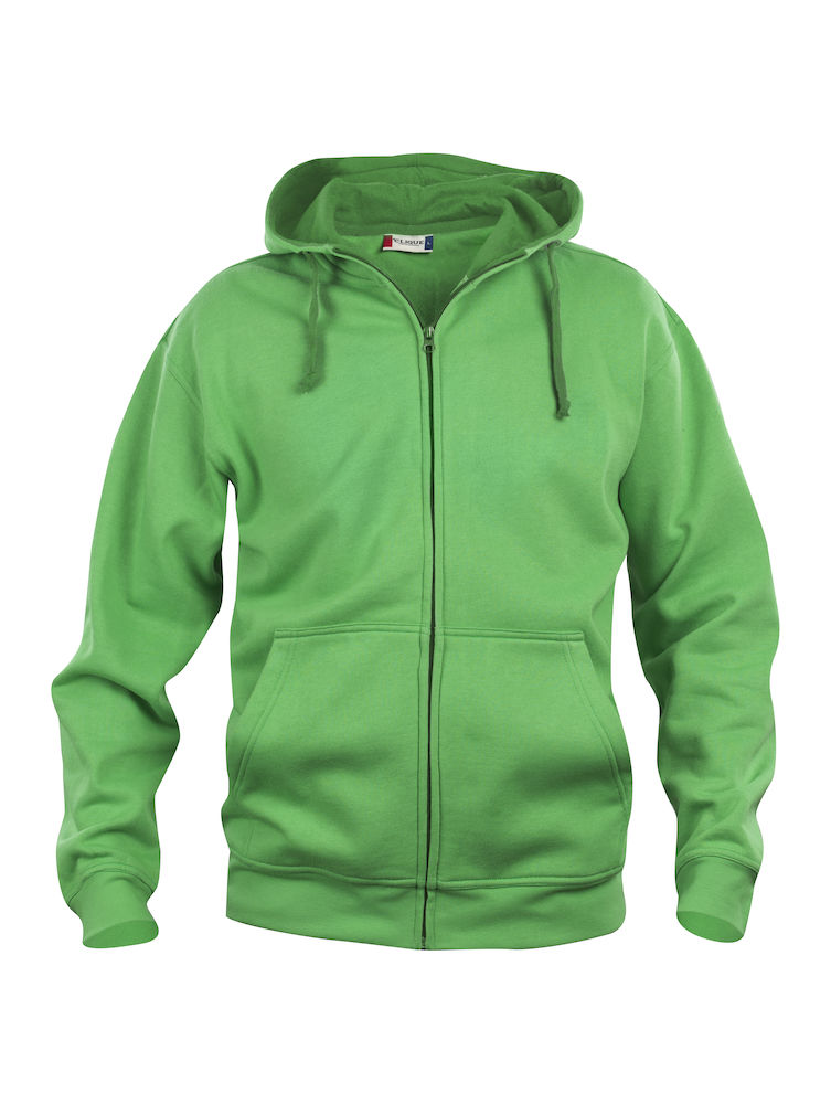 021034 Basic Hoody Full zip i 605-Apple Green