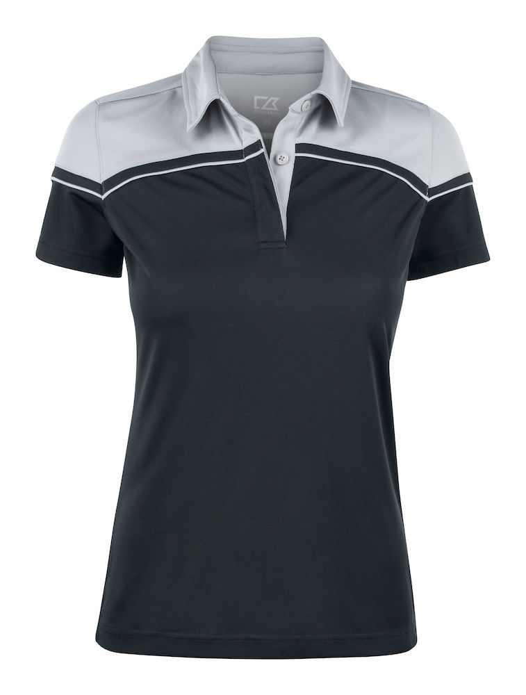354429 Seabeck Polo Ladies i 9993-Black/Light Grey